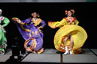 Dancing at the Wikimania 2015 Opening Ceremony IMG 7604.JPG