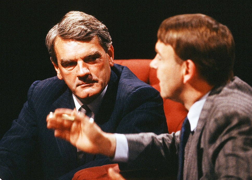 David Irving appearing on %22After Dark%22, 28 May 1988