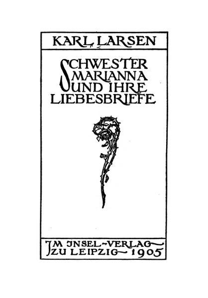File:De Schwester Marianna und ihre Liebesbriefe (Larsen).djvu