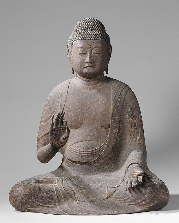 Bouddha en position du lotus (Japon, vers 1175).