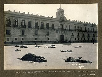 Ten Tragic Days - Dead outside National Palace during one of the outbreaks