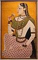 Deccan, donna seduta con fiore, hyderabad, 1710 ca.jpg