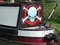 Decoratively painted narrowboat - non traditional - geograph.org.uk - 1658907.jpg