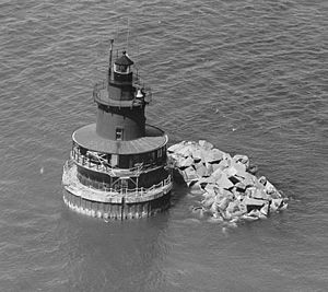Deer Island Light - The original 1890 light, replaced in 1982.