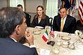 Defense.gov News Photo 111017-D-WQ296-037 - Secretary of Defense Leon E. Panetta right talks to Italian Defense Minister Ignazio La Russa foreground during a working lunch in the Pentagon.jpg