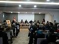 Delanda Larguech fait son hommage à Noura Borsali au Credif. Tunis, le 10 janvier 2017.jpg