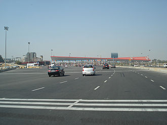 Delhi Gurgaon Expressway - The 32-lane now adjunct toll gate at the Delhi-Gurugram border was the largest in South Asia and the second largest in Asia.