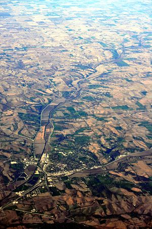 Denison, Iowa - Aerial view of Denison from the southwest, 2012