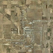 Aerial View Of The Airport In 2002 During Construction Of Runway 16r 34l