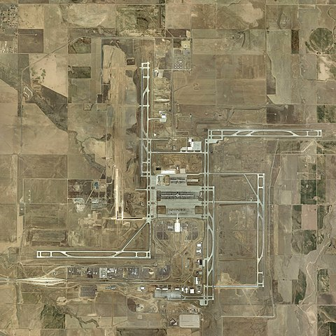 Aerial View of the Denver Airport during construction - Curious Minds Podcast