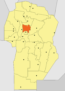 Location o Colón Depairtment in Córdoba Province