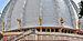 Detail of dome of Samadhi Mandir of Srila Prabhupada, Mayapur 07102013.jpg