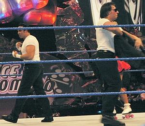 Deuce 'n Domino - Deuce (left) and Domino (right) in a WWE ring.