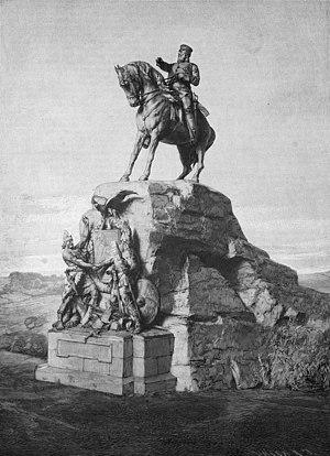 Max Baumbach - Monument to Friedrich III in Wörth. (from Die Gartenlaube (1893)