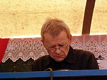 Dieter Moebius from German krautrock band Cluster performing at Fusion Festival 2010.jpg
