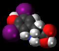 Diiodotyrosine 3D spacefill.png