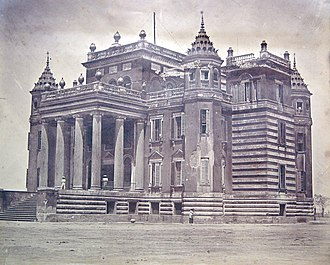 Dilkusha - Dilkusha Kothi in 1858, photographed by Felice Beato