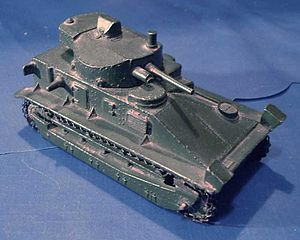 Dinky Toys - Dinky 151a Medium Tank. This model was made 1937 to 1941 and reissued just after the war from 1947 till 1952 as consumer industry commenced again.