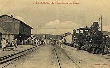 Dire Dawa-Origins-Dire Dawa-Djibouti train leaving, c. 1912.