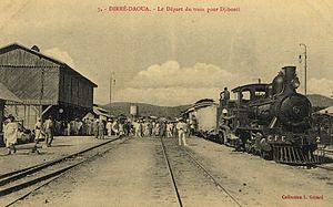 Dire Dawa - Train departing from Dire Dawa c. 1912