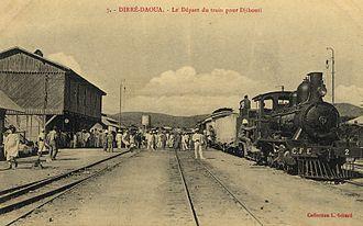 Dire Dawa - Train departing from Dire Dawa c. 1912