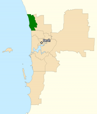 Division of Moore - Division of Moore in Western Australia, as of the 2016 federal election.