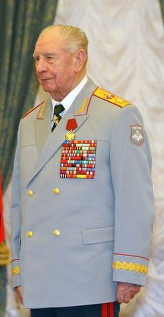 Marshal's star - Marshal of the Soviet Union Dmitry Yazov with his large marshal's star on top of his necktie