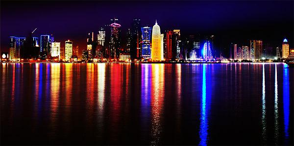 Doha på kveldsstid.