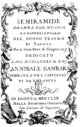 Domenico Fischietti - Semiramide - titlepage of the libretto - Padua 1759.png