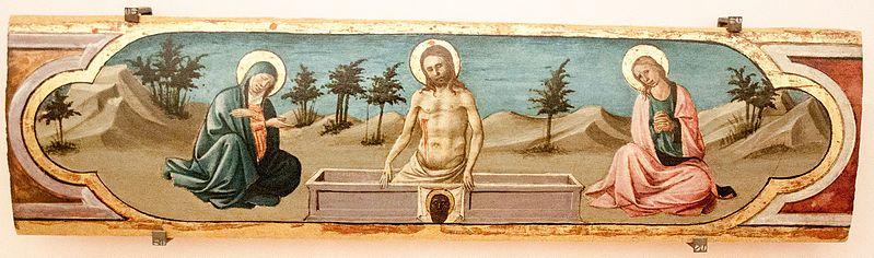 File:Domenico di Michelino, cristo in pietà tra la vergine e san giovanni evangelista, 2016-05-07.jpg