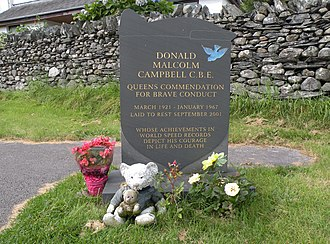 Donald Campbell - Campbell's gravestone in Coniston