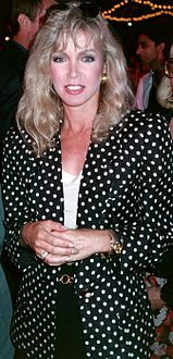 Mills at the Los Angeles premiere of Air America on August 9, 1990