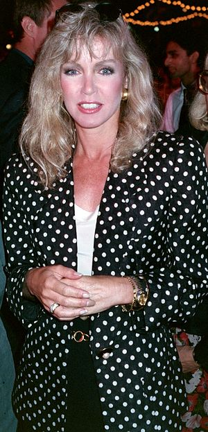 Donna Mills - Mills at the Los Angeles premiere of Air America on August 9, 1990