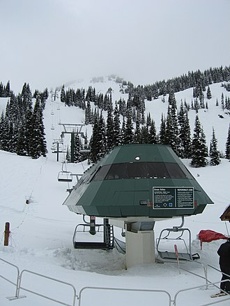 Doppelmayr Garaventa Group - The Green Valley Express high speed quad at Crystal Mountain, Washington, USA