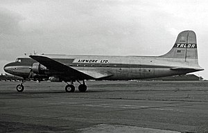 Airwork Services - Douglas DC-4 Skymaster operating Airwork's 1955 scheduled transatlantic all-freight service