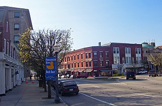 Westerly, Rhode Island - Dixon House Square in downtown Westerly