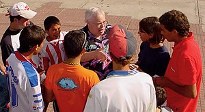 John Chittick - Dr. John speaking with Uruguayan boys