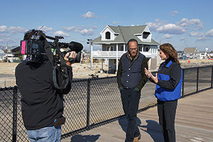 Lester Holt - Holt interviewing Dr. Holly Bamford of the National Ocean Service and National Oceanic and Atmospheric Administration in 2013