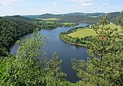 Slapy Reservoir on middle course of the Vltava