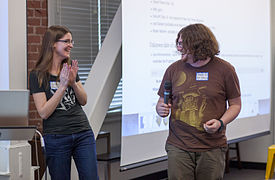 Dreamyshade and Staeiou at Wikipedia 15.jpg