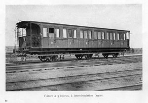 English: Railway coach 1st and 2de clas with 3...