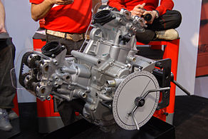 Ducati Desmoquattro at 2009 Seattle International Motorcycle Show 2.jpg