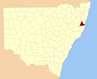 Dudley County - Location in New South Wales