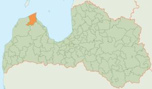 Dundaga Municipality - Image: Dundagas novads karte