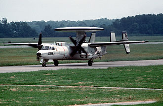 VAW-120 - VAW-120 E-2C at NAS Oceana in 1989
