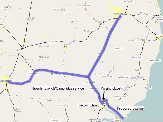 East West Rail Consortium Eastern map