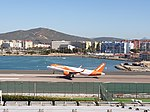 EasyJet aircraft take off at Gibraltar International Airport.jpg