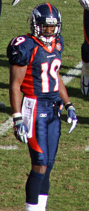 Eddie Royal - The versatile Eddie Royal played four seasons for the Broncos. Royal is pictured at a game in December, 2009.