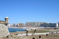 A view of the coast of Matosinhos and Porto