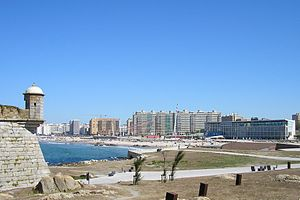 Matosinhos - A view of the coast of Matosinhos and Porto
